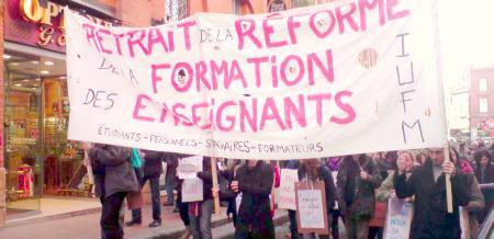 greve et manifestation dans l'education nationale vendredi 12 mars 2010