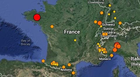 tremblement de terre Bretagne
