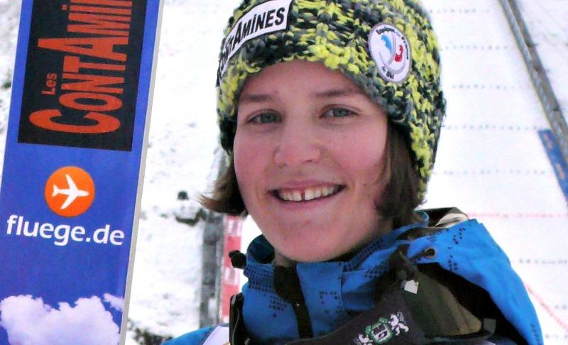 A seulement 18 ans, Coline Mattel remporte la médaille de bronze dans l'épreuve du saut à ski. Photo CC/Manuguf