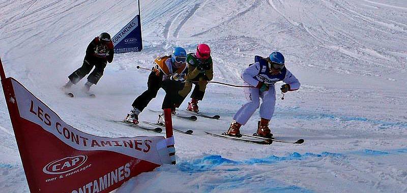 Très spectaculaire épreuve de skicross aux Jeux Olympiques de Sotchi. Une épreuve ponctuée par de nombreuses chutes et un triomphe français. Photo CC/ Manuguf