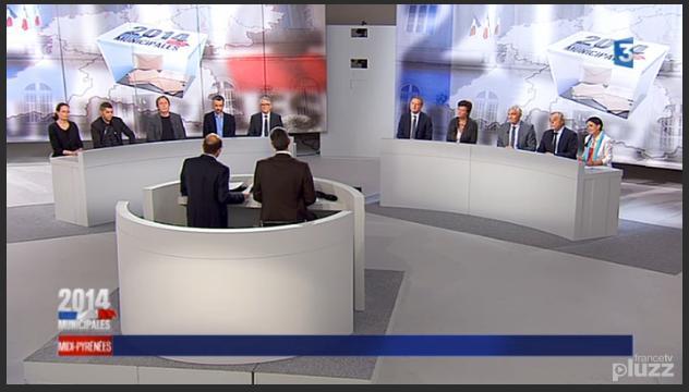 Municipales Toulouse débat France3 Midi Pyrénées 2014