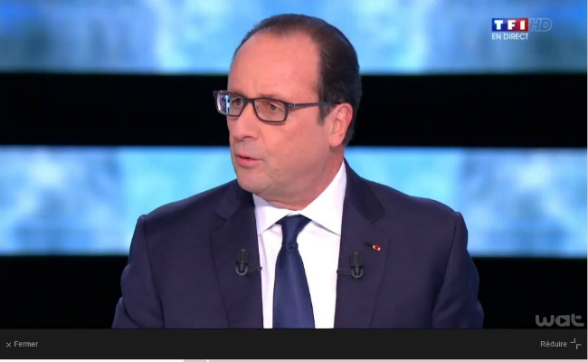 François Hollande TF1 novembre 2014