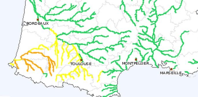 Inondations : Hautes Pyrénées, Pyrénées Atlantiques et Landes en alerte