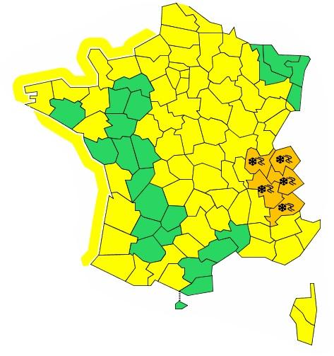 Neige : 5 départements des Alpes en alerte orange