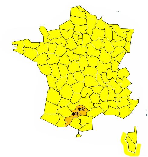Verglas : Haute Garonne et Tarn en alerte vigilance orange