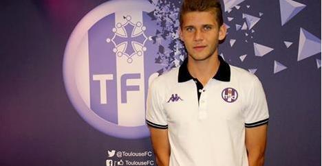 Alexis Blin signe son 1er contrat pro avec le Toulouse Football Club