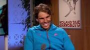 Rafael Nadal blague avec les journalistes de France télévision après sa nette victoire sur Almagro Photo Capture d'écran France2