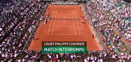 Effondrement sur le court central de Roland Garros : le match Tsonga Nijikori perturbé
