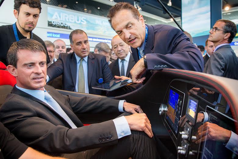 Manuel Valls visite Airbus au Salon du Bourget avant d'aller en Andorre via Toulouse