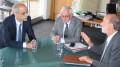 Martin Malvy président de la région Midi Pyrénées et Antoni Marti Petit premier ministre d'Andorre.