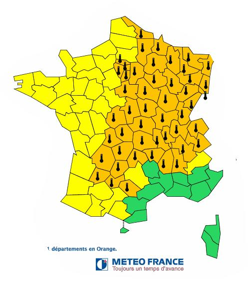 Canicule : le Tarn et le Tarn et Garonne en alerte orange