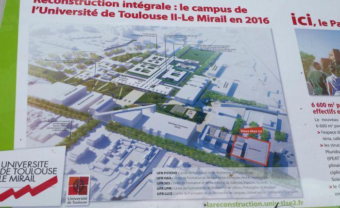 Thierry Mandon à Toulouse pour inaugurer la maison de la recherche de l'Université Jaurès