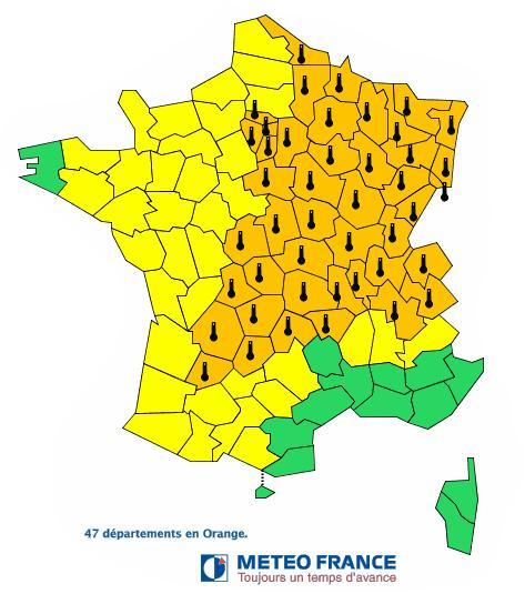 Canicule : la moitié de la France en alerte orange
