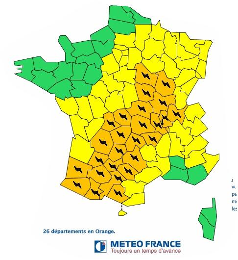 Orages violents : Toulouse et la Haute Garonne en alerte orange