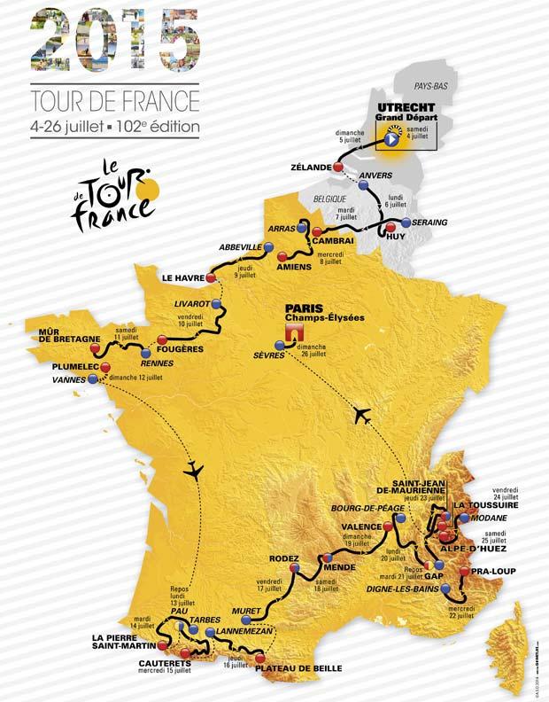 Tour de France 2015 : 21 étapes et 5 favoris