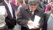 Le parti de Gauche de Jean Luc Mélenchon député européen du grand sud ouest. Photo T7