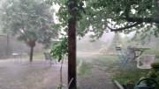 Orage  une mini tornade sur Tarbes lundi 18h