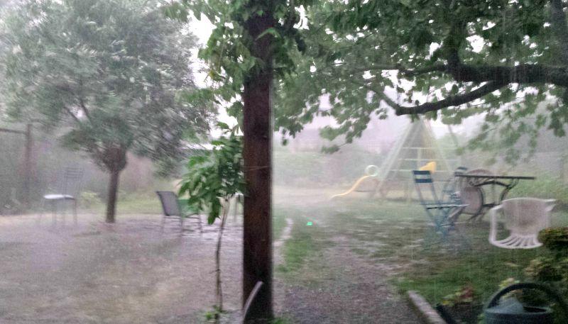 Un orage violent s'est abattu sur Tarbes