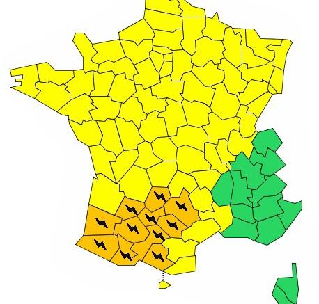 orage Hautes Pyrénées alerte orange