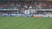 Toulouse Auxerre un match piège entre un TFC qui évolue en ligue 1 et une AJA de ligue 2 mais qui sait parfaitement jouer les matchs de coupe Photo «Association Jeunesse Auxerre - supporters» par TaraO — Travail personnel. Sous licence CC BY 3.0 via Wikimedia Commons.
