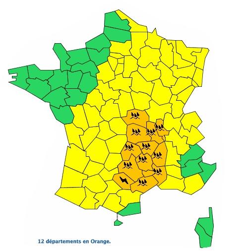 Tarn et Aveyron en alerte météo vigilance orange