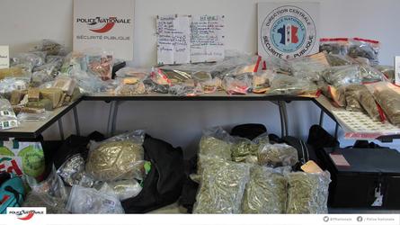 Marseille. 66 kilos de drogue et un milliers de munitions saisies par la police