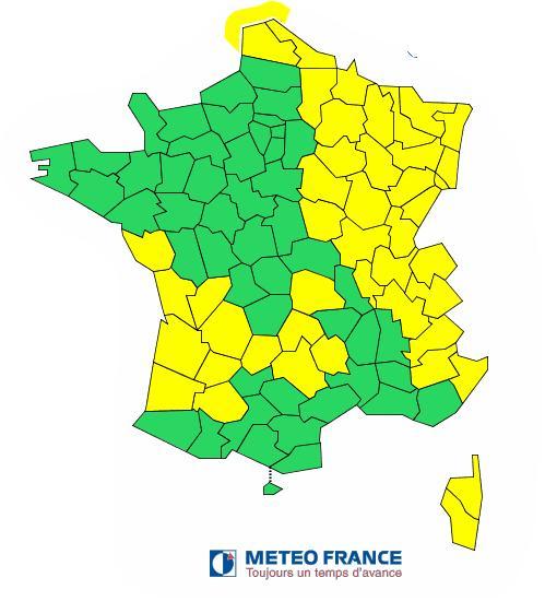 Neige verglas tout l 39 est de la france en vigilance jaune - L est de la france ...