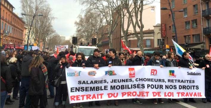 manifestation loi travail Toulouse