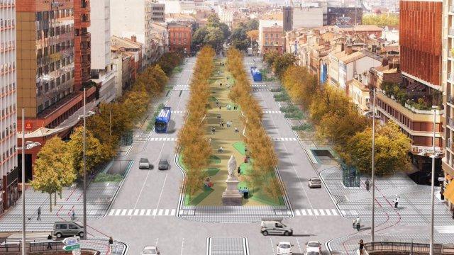 Toulouse. voici à quoi ressembleront les futures allées Jean Jaurès