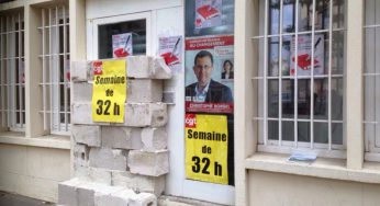 à Toulouse. des militants CGT emmurent la permanence du député Borgel