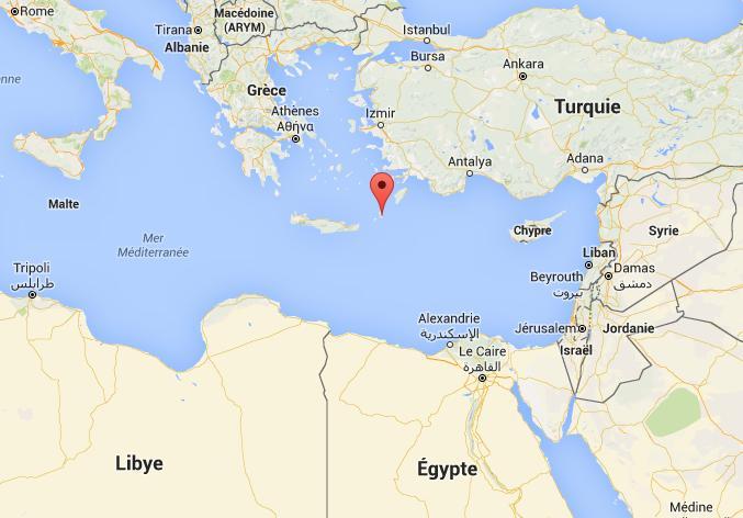 Crash de l'A320 d'EgyptAir le lieu présumé du crash