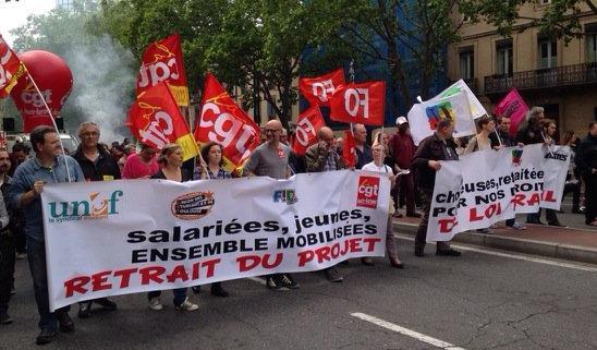 Entre 6000 et 20000 manifestants contre la loi travail à Toulouse