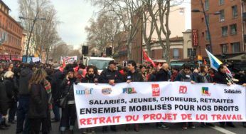 Mobilisation en baisse contre la loi travail à Toulouse