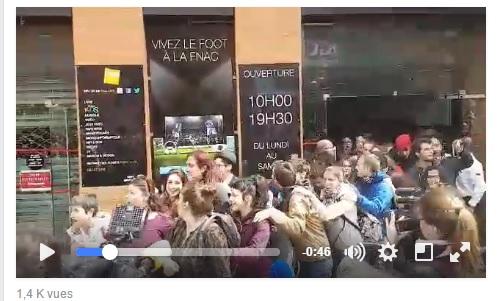 Occupation de la FNAC Toulouse la vidéo festive de la sortie des manifestants
