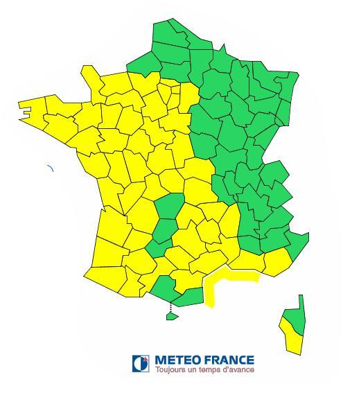Vents violents ou orages tout le sud ouest en vigilance jaune
