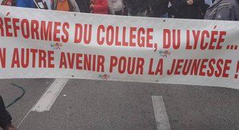 de bloquons tout à la réforme du collège : les slogans de la manif Toulousaine