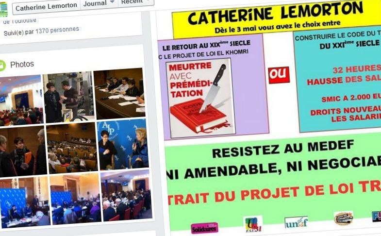 occupation pression Catherine Lemorton Toulouse loi travail