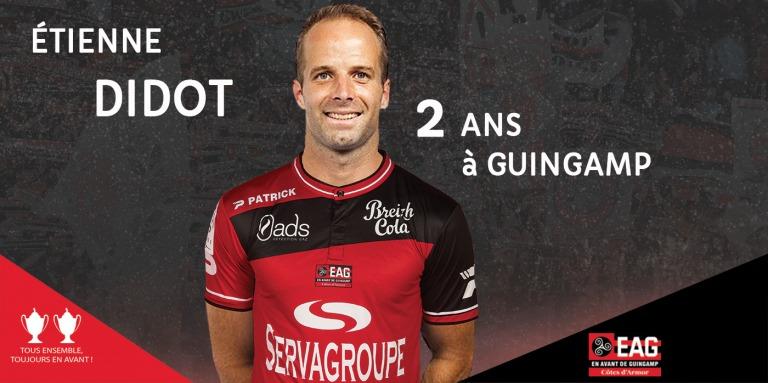 Didot quitte le Toulouse Football Club pour Guingamp