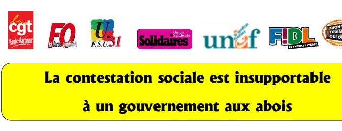 Nouvelle journée de mobilisation contre la loi travail à Toulouse