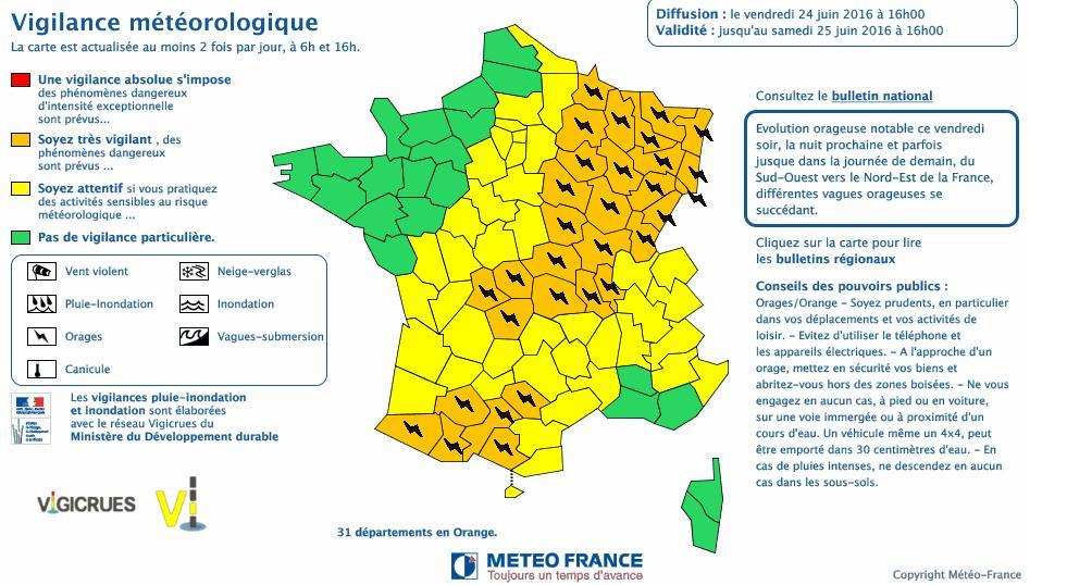 Orages. Toulouse, la Haute Garonne en alerte météo vigilance orange