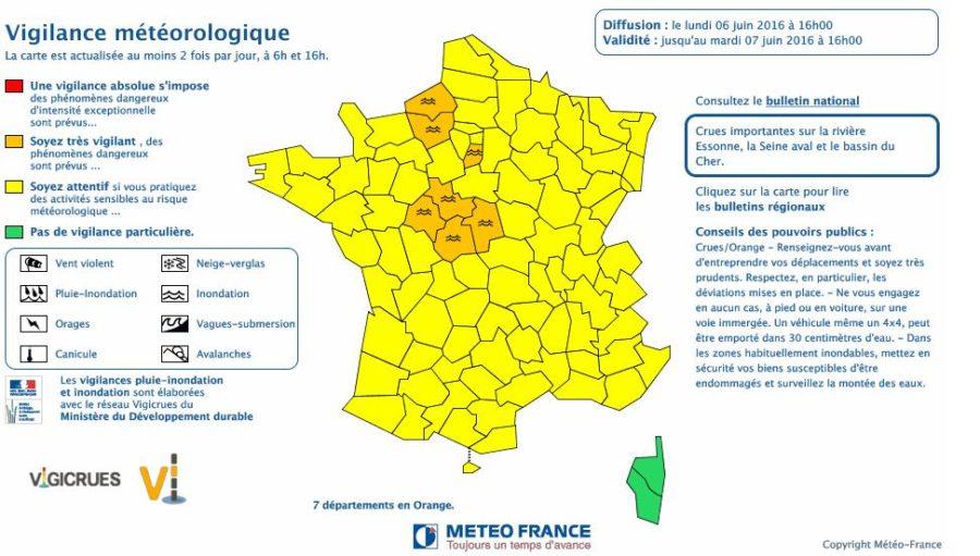 Risque d'orages de grêle lundi soir sur la Haute Garonne
