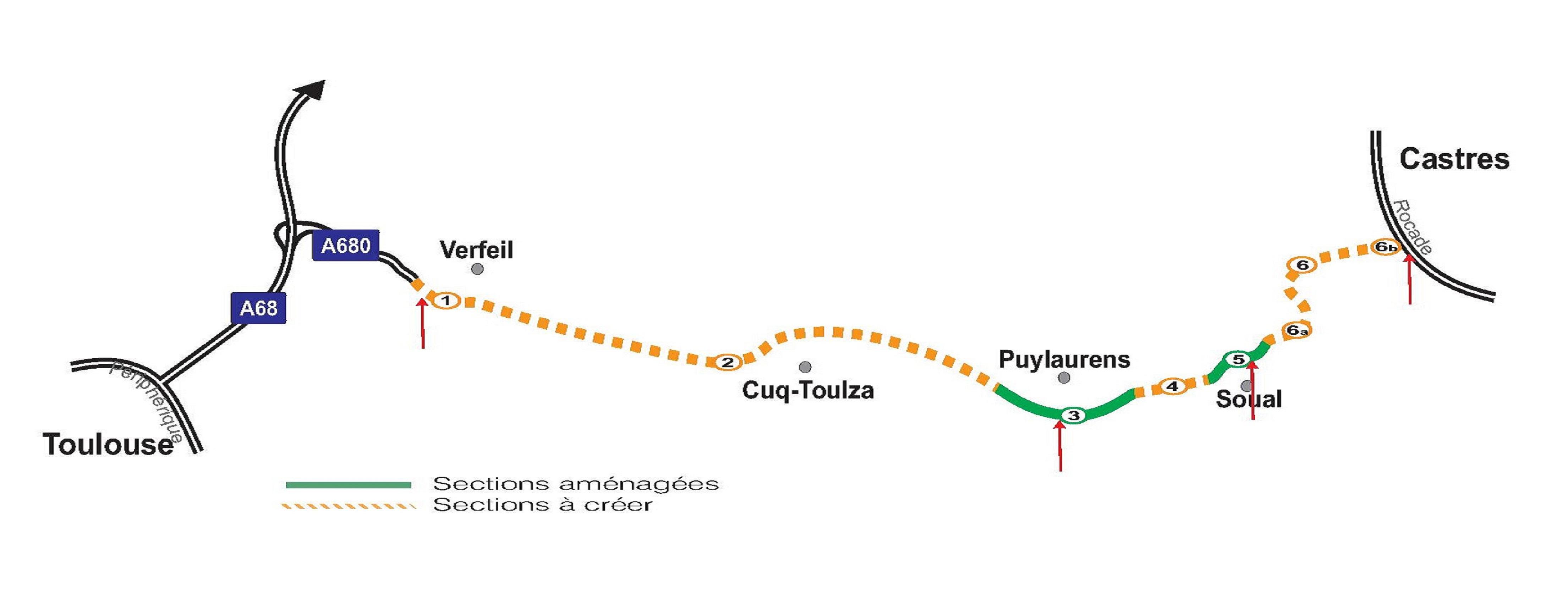 Vers un nouvel aménagement de l'autoroute Castres Toulouse