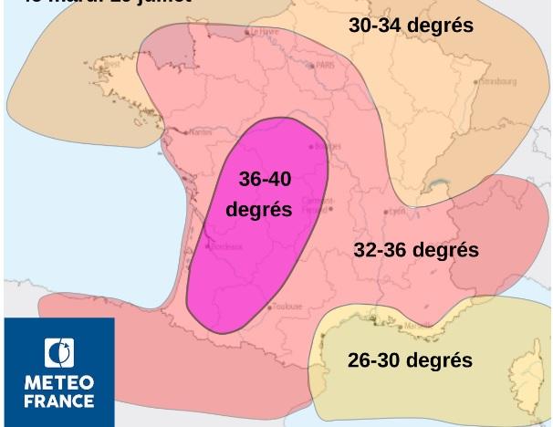 la canicule arrive sur Toulouse et toute la France