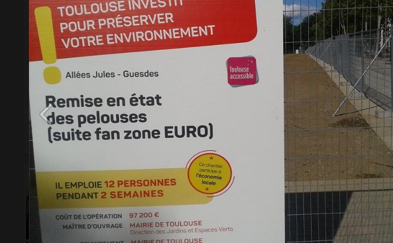 100 000 euros pour refaire la pelouse de l 39 ex fan zone all es jules guesdes - Que faire avec 100 000 euros ...