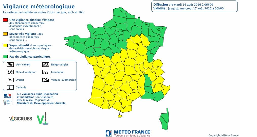 Orages. la Haute Garonne et tout le sud ouest en alerte météo