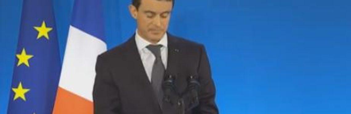 Valls et les soutiens de Hollande en meeting à Colomiers Toulouse