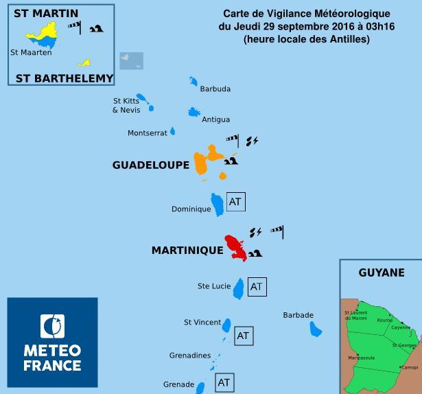 La Martinique placée en alerte rouge