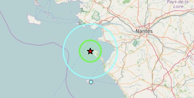Nouveau tremblement de terre au large de Nantes