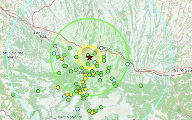 Tremblement de terre à Tarbes et Lourdes