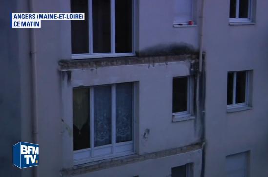 Angers - enquête ouverte après l'effondrement d'un balcon qui a coûté la vie à 4 personnes